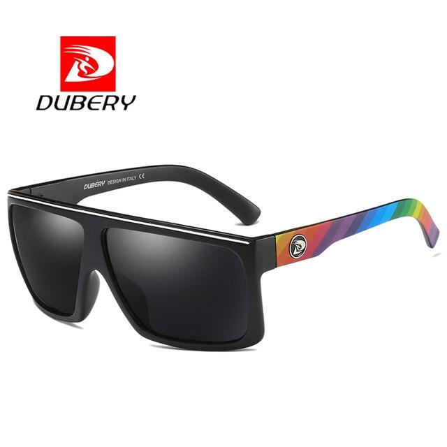 06e8d77bfc DUBERY Brand Design Polarized HD Sunglasses Men Driving Shades Male Retro Sun  Glasses For Men Large frame Square Oculos UV400