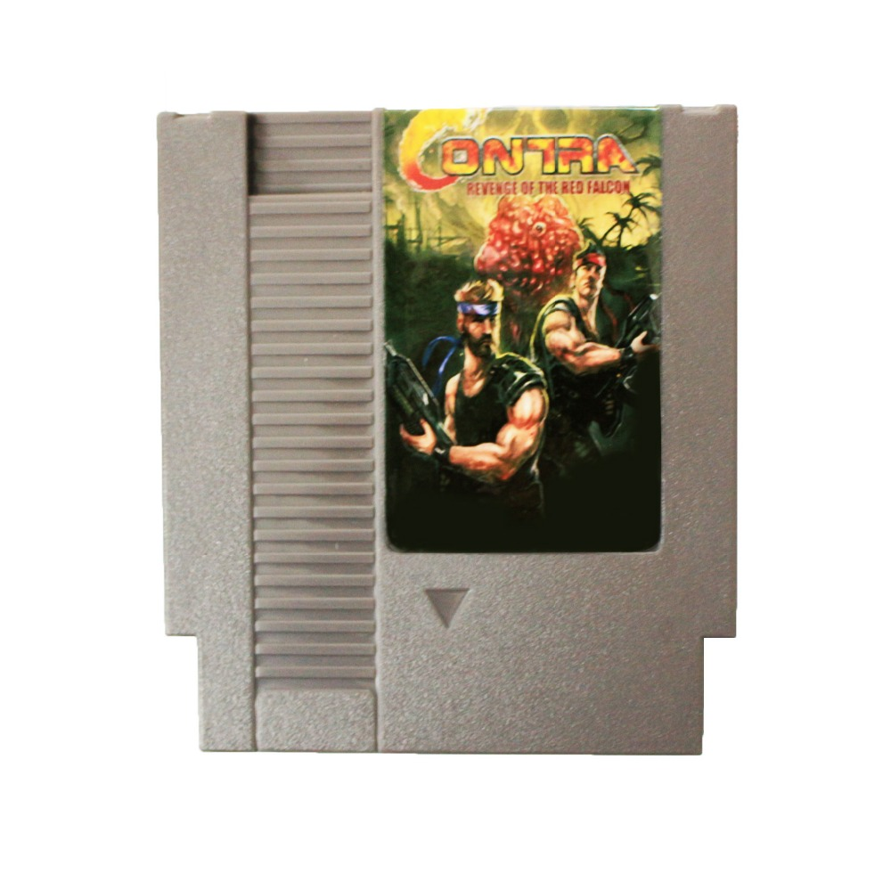 Hot Sale <font><b>72</b></font> <font><b>Pins</b></font> cartridge 8 Bit <font><b>Game</b></font> <font><b>Card</b></font> - Contra Revenge Of The Red Falcon image