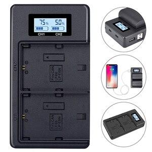 Image 2 - Lp E6バッテリー充電器液晶デュアル充電canon eos 5Ds r 5Dマークii 5Dマークiii 6D 7D 80D eos 5Ds rカメラ