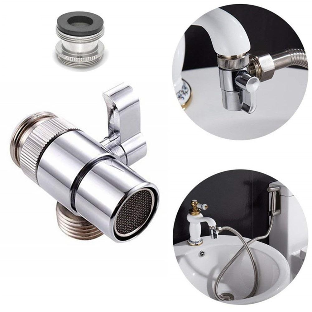 Diverter Kitchen Sink Valve Bathroom Adapter Home Brass Faucet Splitter Sink Valves Water Tap Faucet Valve Diverter