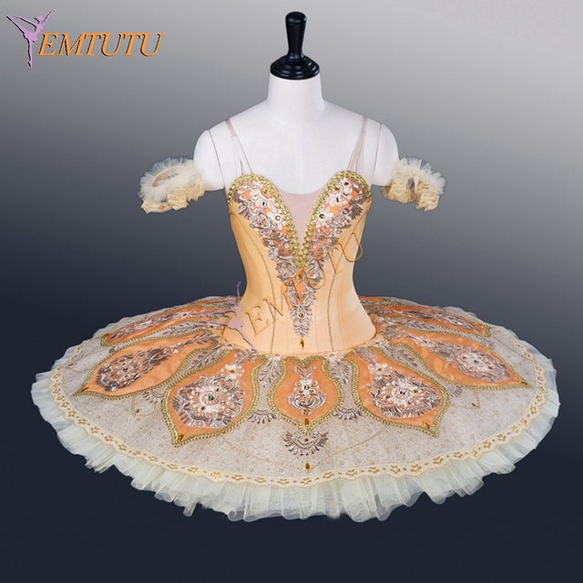 e4b3efd25 Adult Professional Tutu Yellow Gold Dew Drop Fairy Tutu Classical Ballet  Tutus Women Ballet Stage Costume