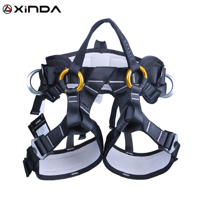 XINDA Camping Outdoor Hiking Rock Climbing Half Body Waist Support Safety Belt Climbing tree Harness Aerial Sports Equipment