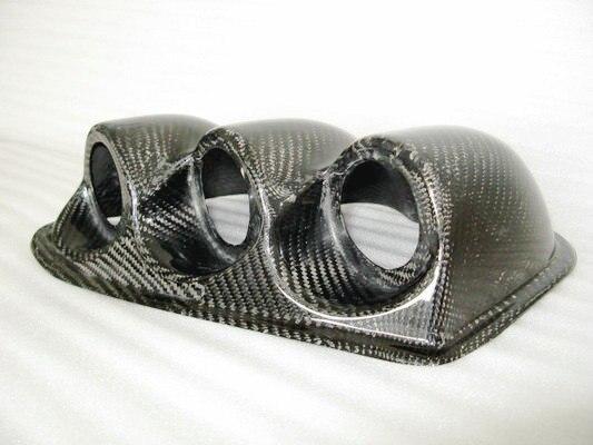 Автомобильные аксессуары из углеродного волокна Dash тройной Gauge Pod 60 мм LHD глянцевое волокно внутренняя крышка циферблата для Mitsubishi Evolution EVO 7 8
