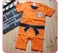 Dragon Ball Goku Practicing His Martial Arts Comedy Styling Boys Romper Short Sleeve Summer Baby Clothes