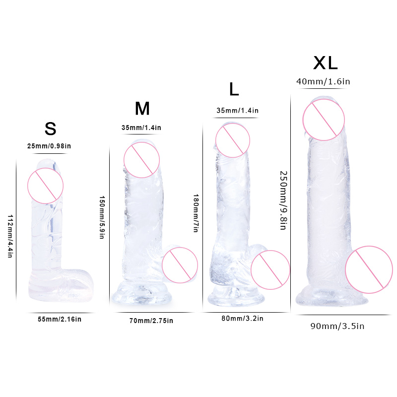 Soft Jelly Dildo Realistic Anal Dildo Penis Suction Cup Male Dick Female Masturbation Erotic Toys for Adult Sex Toys for Woman in Vibrators from Beauty Health