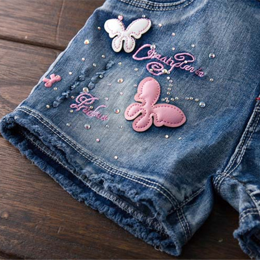 Baby girls Pants Boys Girls Strap Clothing Summer New Fashion Kids High Quality butterfly Jeans short pants Children Clothing