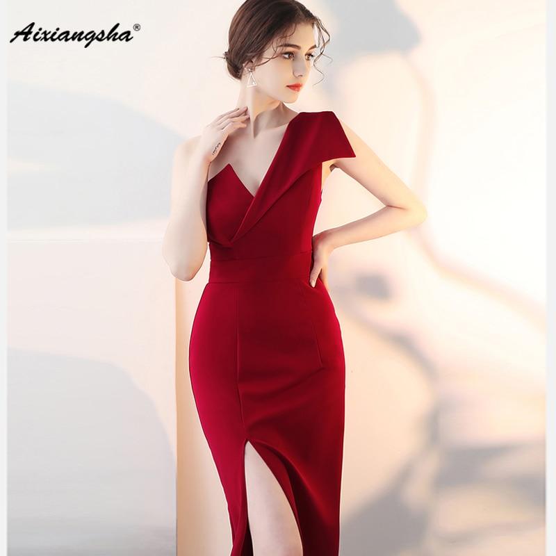 vestidos de fiesta largos elegantes de gala 2018 Long Prom Dresses Party Dresses Sexy Customized With Slit Fast Shipping