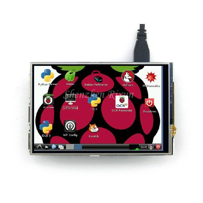 Pin SPI 3.5 Pollice TFT LCD Display Touch Screen Con Lo Stilo Per Raspberry Pi 2/Raspberry Pi 3 Modello B Bordo Spedizione Gratuita
