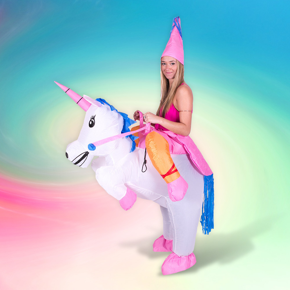 Inflatable Unicorn Pony Costume Halloween Costumes for Women Men Kids Unisex Clothing Unicorn Cosplay Costume Party Dress