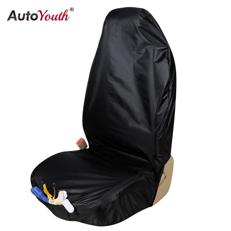AUTOYOUTH Premium Wasserdichte Eimer Sitzbezug (1 Stück) Universal-Fit für Die Meisten Autos Lkw Suv Schwarz Auto Seat Protector