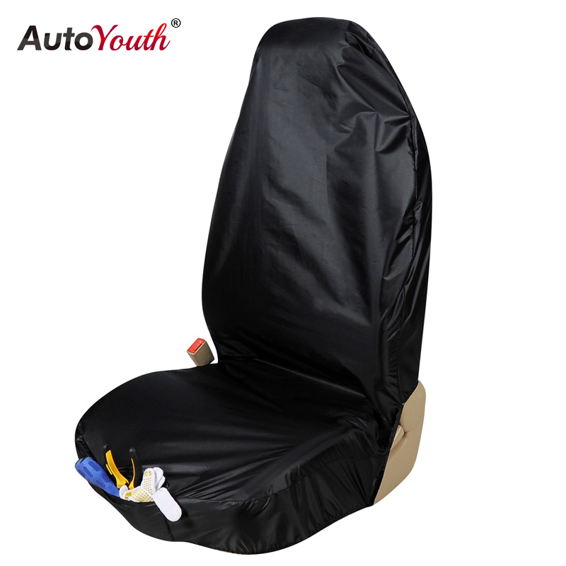 AUTOYOUTH Premium Waterproof Bucket Seat Cover (1 Piece) Universal Fit for Most of Cars Trucks Suvs Black Car Seat Protector coverking front 50 50 bucket custom fit seat cover for select chevrolet monte carlo models genuine leather black