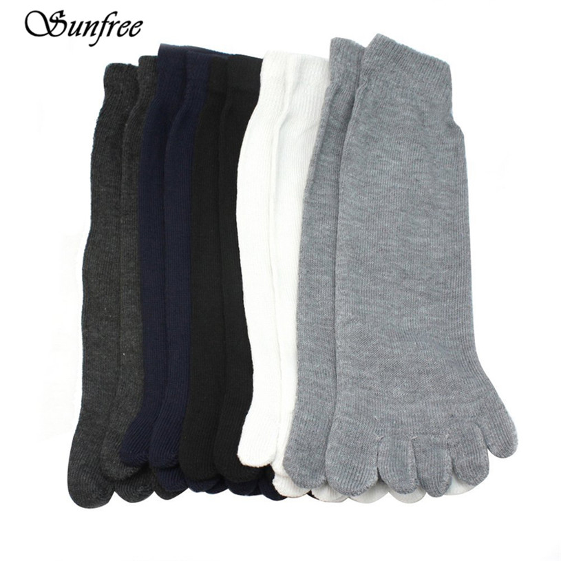 2018 Hot Sale  5 Pairs Fashion Men Five Fingers Separate Toe Socks Comfortable Warm Hot Brand New and High Quality #HY5650