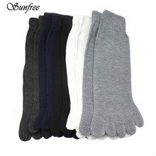 Sunfree 2016 Hot Sale 5 Pairs Fashion Men Five Fingers Separate Toe Socks Comfortable Warm Hot