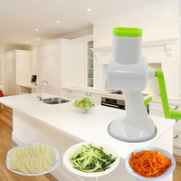 New 4 In 1 Vegetables Cutter Multifunctional Manual Cutting Artifact Hand Push Rotary Shredder Device Kitchen