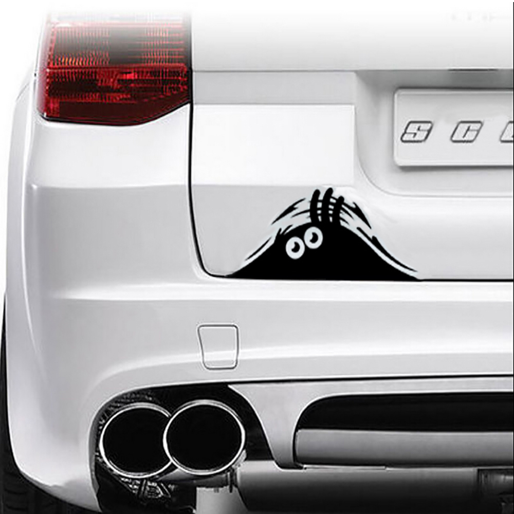 Simple car sticker design - Hot Sale Funny Peeking Monster Auto Car Walls Windows Sticker Graphic Vinyl Car Decals Car Stickers