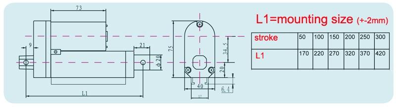 12 V 48 V DC 2 ''50 ミリメートルストロークリニアアクチュエータ 900N 負荷 24 24v 管状モータストローク調整制御 2 インチ電動モータ 5 35 ミリメートル/秒  グループ上の 家のリフォーム からの DCモーター の中 3