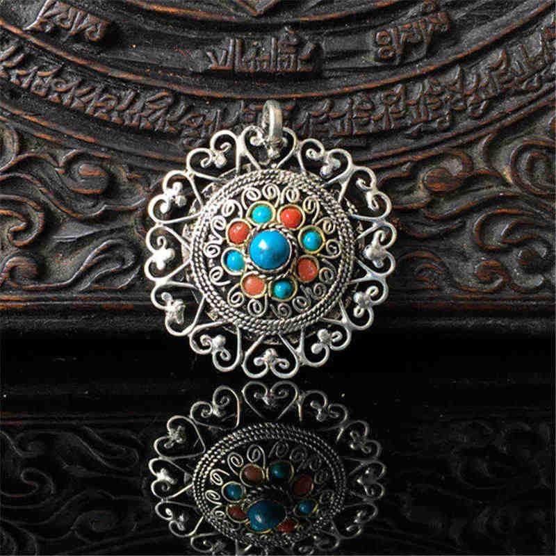 a0f27dba8206 TGB047 caja de oración de plata tibetana, Nepal piedra hecha a mano ...