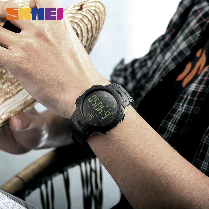 SKMEI Fashion Smart Watch Men Calorie Pedometer Bluetooth Klockor - Herrklockor - Foto 6