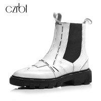 Czrbt Для женщин высокие Женская обувь на плоской подошве оригинальный подошва с из натуральной коровьей кожи Обувь с перфорацией типа «броги