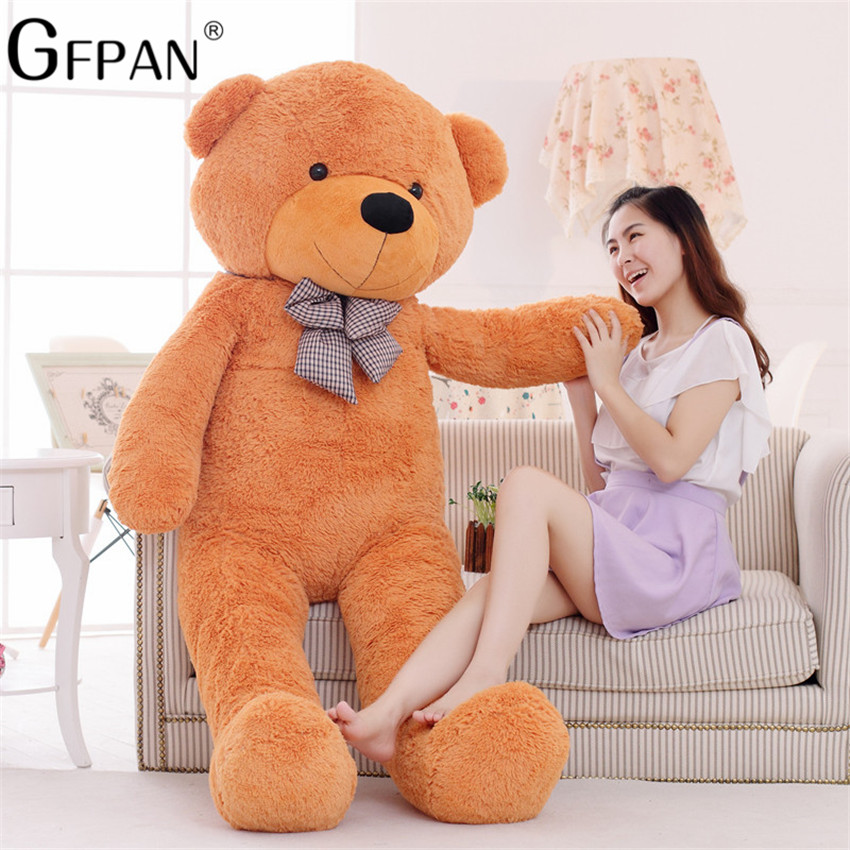1 Pcs 200CM Teddy Bear Skin Teddy Bear Hull Super Quality Plush Soft Coat For Girls Gift