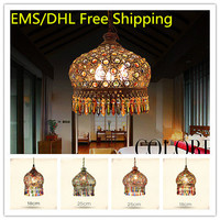 2015 Новый стиль тканые Crystal Bohemia потолочный светильник, творческий ретро железа лампы Европейский США Спальня Гостиная подвесной светильник