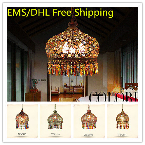 2015 New Style Woven Bohemia Crystal Ceiling Lamp, Creative Retro Iron Lamp European USA Bedroom Living Room Pendant Lamp luxurious crystal pendant lamp the european style living room lamps and lanterns creative bedroom crystal chandelier
