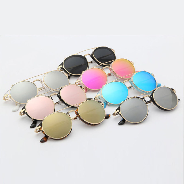 Exquisite Protective Round Shaped Mirror Steampunk Sunglasses