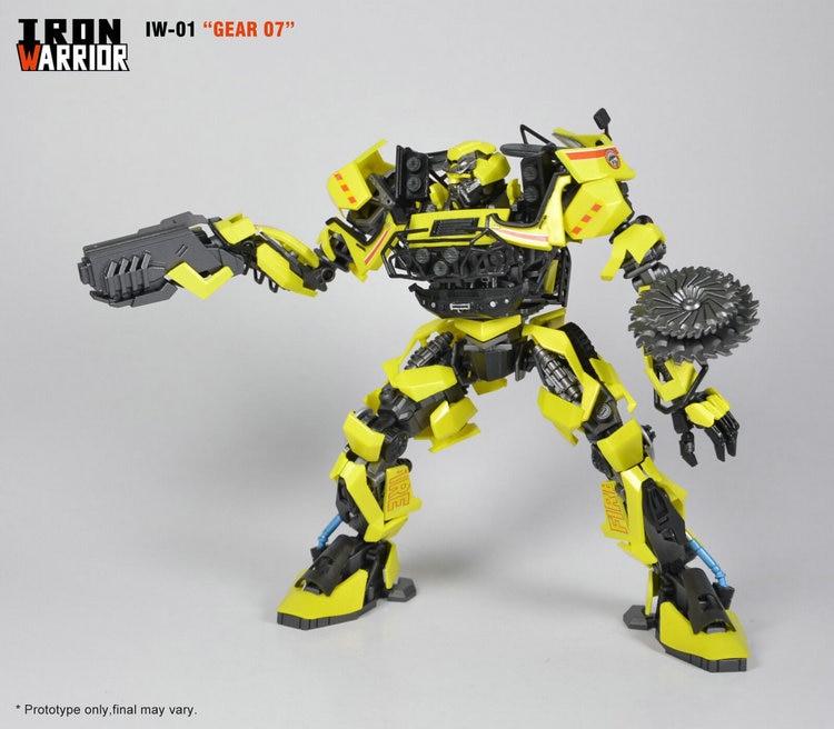 Iron Warrior IW-01 Gear 07 DMK Ambulance Transformation Action Figure Toys definitive technology iw sub 10 10