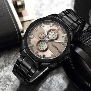 Image 2 - NEW CURREN Luxury Brand Men Full Steel Business Wristwatches Man Casual Waterproof Watch Quartz Watches relogio masculino
