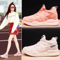 Women Vulcanized Shoes Light Walking Shoes Mesh Fabric Breathable S Anti Skidding Outdoor Casual Shoes Summer