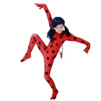 Miraculous Ladybug Cosplay Costumes Girls Jumpsuits And Wig Halloween Christmas Fancy Party Dress Costume Kids Ladybug