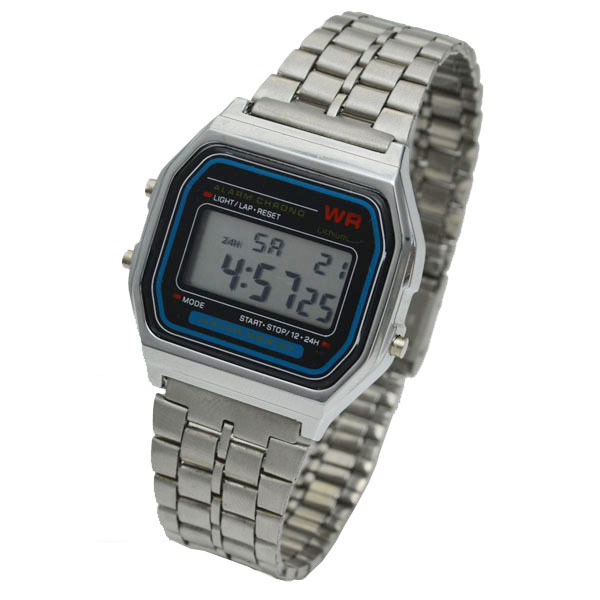 77d42f6a71ce F-91W LED Digital Waterproof Silver Ultrathin Bracelet Samurai Watch for Women  Men Reloj Army Hombre Cheap High Quality