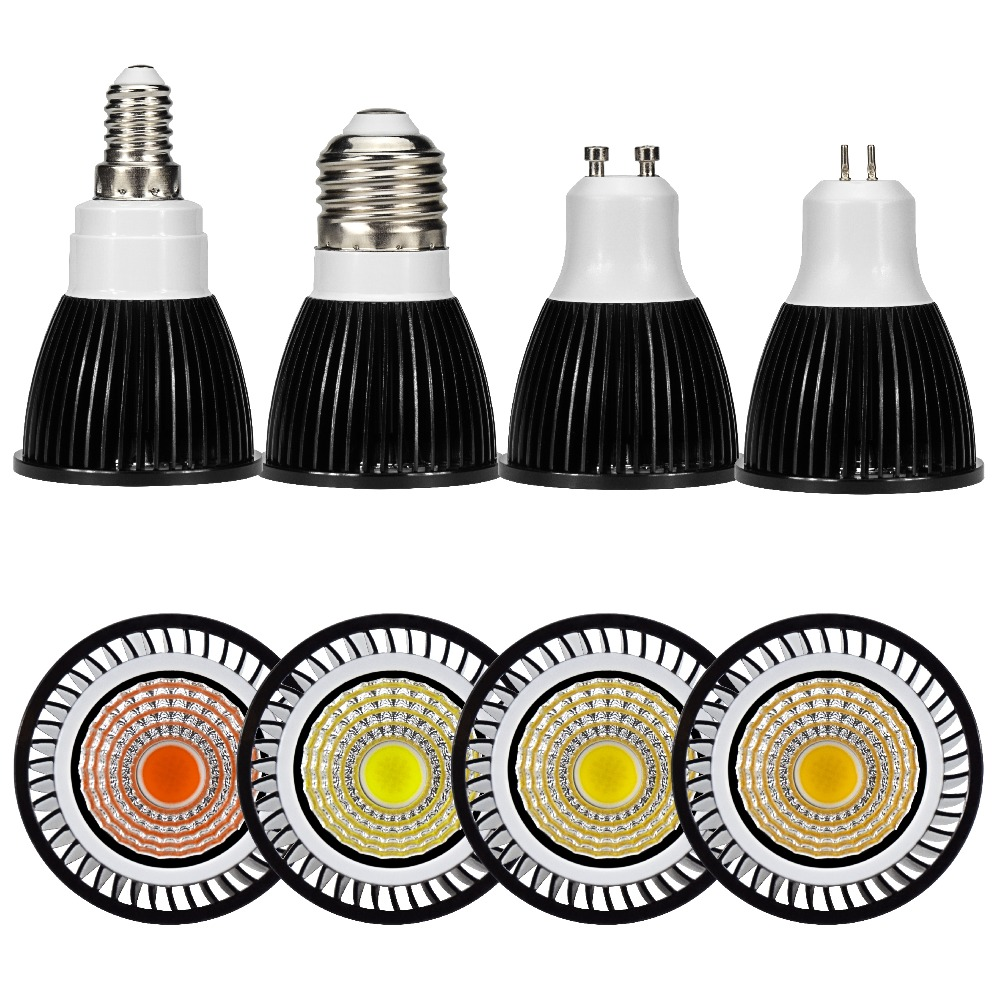 LED Spotlight Bulb GU10 MR16 E27 E14 Day Cold Warm White Grow Light 220V 240V LED COB Chip For Downlight Table Lamp Lampara