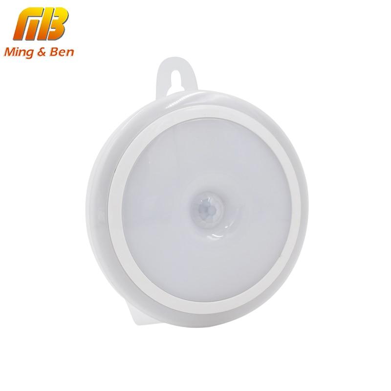 LED Gecə İşıq PIR Hərəkət Sensor Dəyirmi LED Kabinet İşıq - Gecə işığı - Fotoqrafiya 6
