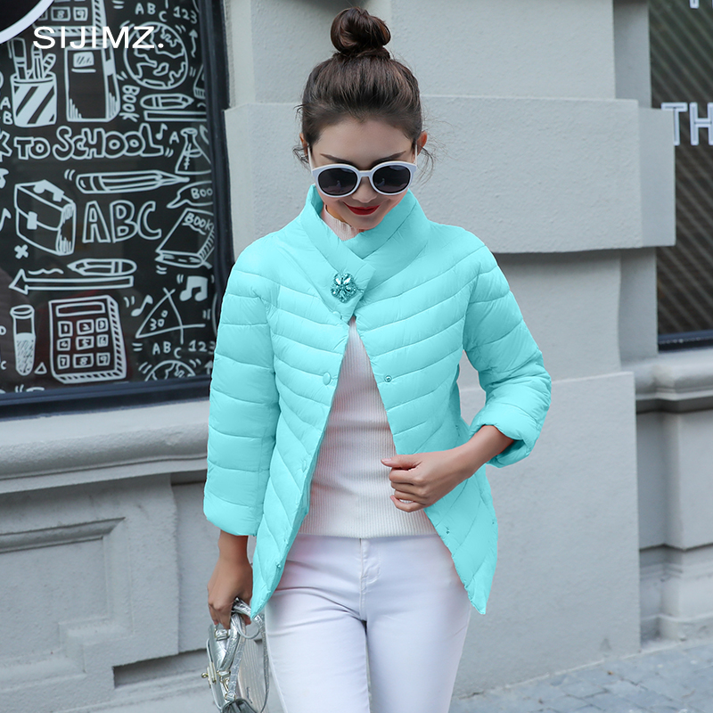 2019 New Spring Collection of Crystal flowers Stylish Windproof Women's Parka Coat Female winter Jacket Coat Womens Quilted Coat