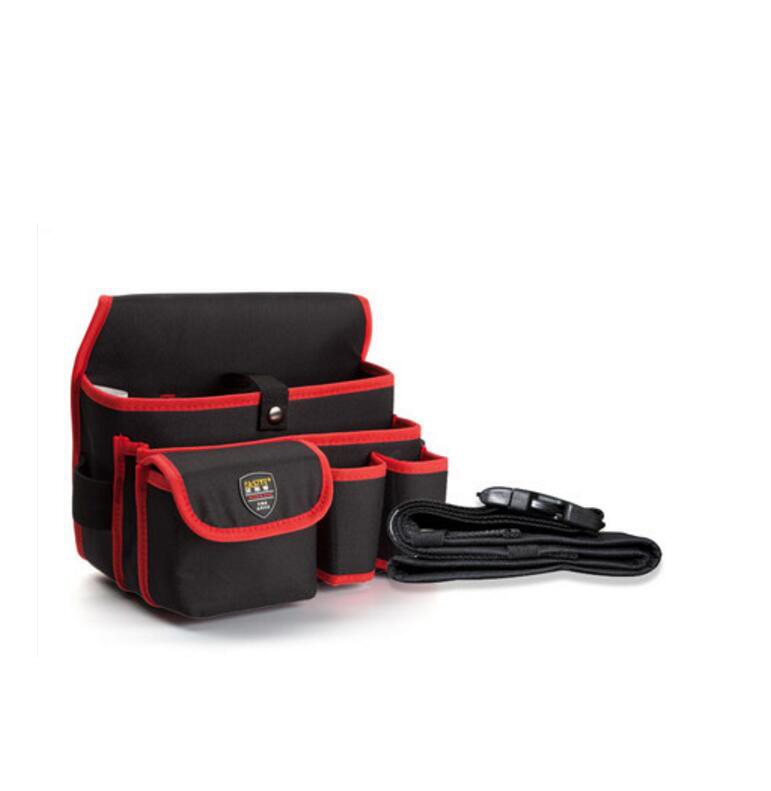 FASITE Multi-function Canvas Waist Tool Bag Home Appliance Installation Tool Pouch Red + Waist Belt