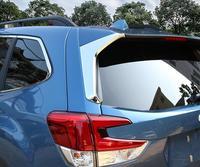Para subaru forester 2019 abs chrome janela traseira triângulo lateral decoração capa guarnição 2 pçs estilo do carro acessórios