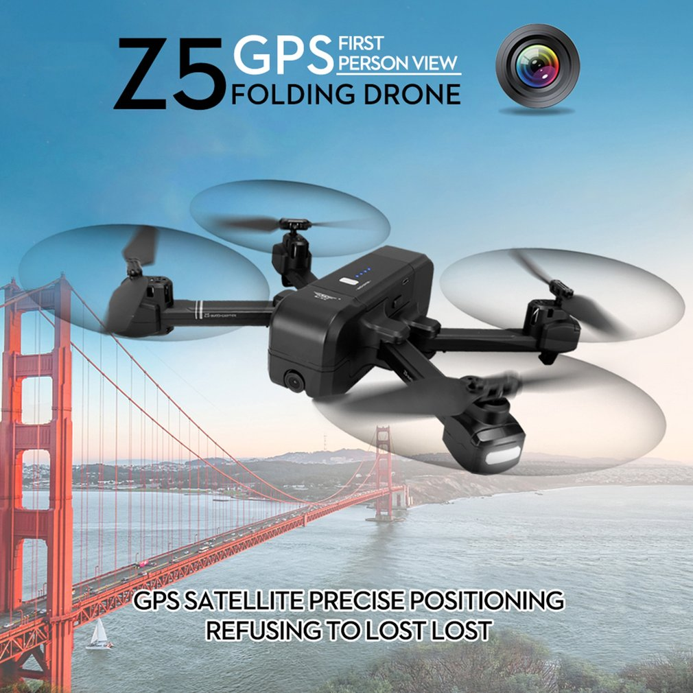 Z5 RC Quadrocopter with HD 720P 1080P Camera Wifi FPV GPS Drone 2.4G/5G Altitude Hold Follow Me Mode Gesture Aerial PhotographyZ5 RC Quadrocopter with HD 720P 1080P Camera Wifi FPV GPS Drone 2.4G/5G Altitude Hold Follow Me Mode Gesture Aerial Photography