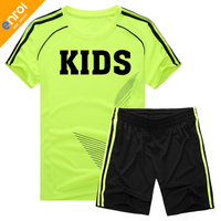 2017 Kids Football Jerseys Kit Boys Soccer Set Jersey Uniforms Training Suits Breathable Short Sleeve 6