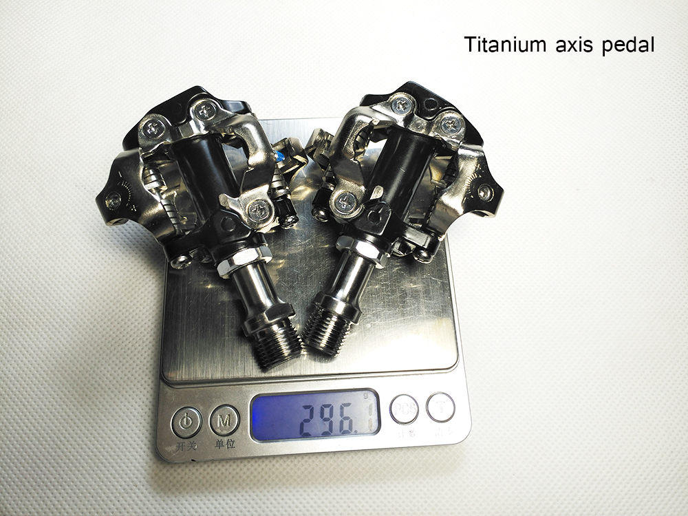 cool price best sell cleats include Titanium/Cromo axis MTB or racking road bicycle clipless as XT XTRR-M980 SPD pedal