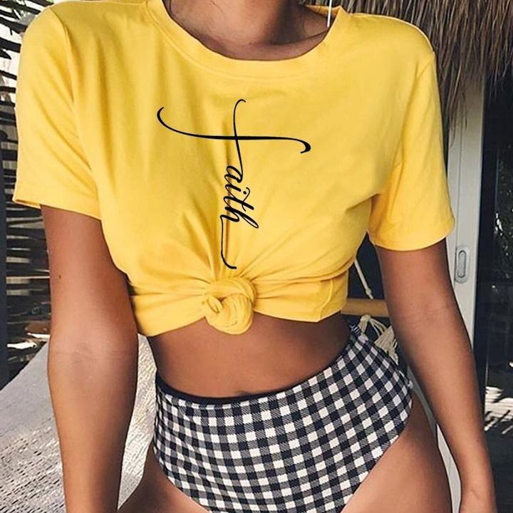 Neue Frauen Grafik Glauben T-Shirt Casaul Jesus Kreuz Hipster Weihnachten Shirt Vintage Ästhetischen Taufe braut squad Tops Outfits