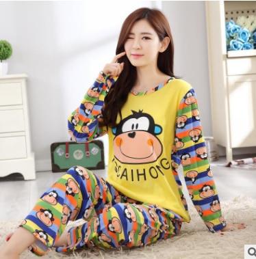 37e8dc53e11b Hot sale autumn winter women cotton sleepwear girls cute Minions ...