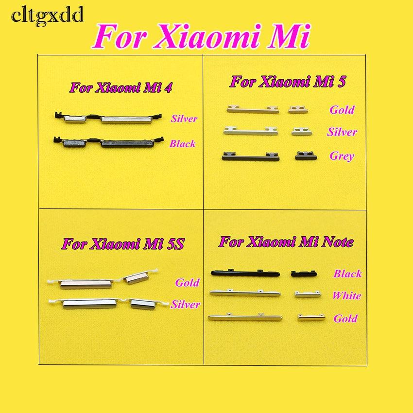 Cltgxdd 1PCS Side Button Power Volume Key Replacement Spare Parts For Xiaomi Mi 4 5 5S Note Max M4 M5 M5s Mi4 Mi5 Mi5S