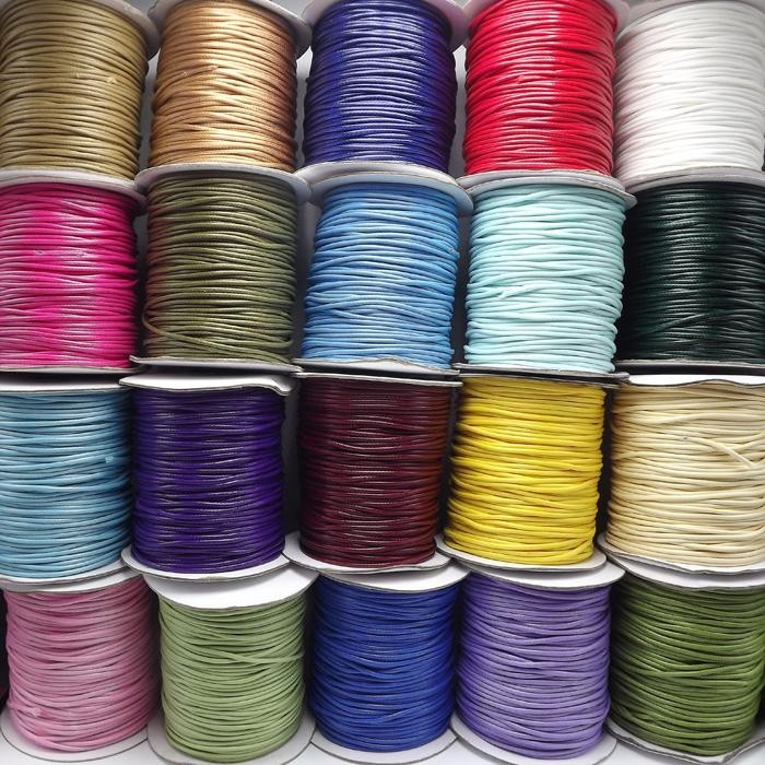 yarn very fine round waxed cotton cord 0.8 mm \u2022 purple \u2022 5 yards