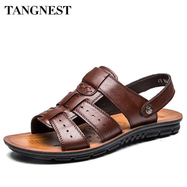 Gladiators Cow Leather Tangnest Summer Casual Casual New Men qapn4wnzxT
