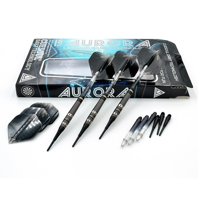 New 3PCS/Set CUESOUL 20g Tungsten Darts Professional Darts Soft Tip Darts With Nylon Darts Shafts CSAR-N2107 cuesoul 24 26 28g professional 85% tungsten steel tip darts 145mm with nylon shafts csgl n2209
