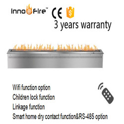 72 inch silver or black real fire intelligent auto bio fireplace smart