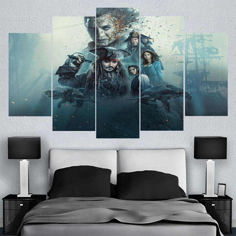 Home Decor Wall Art Caribbean Full Movie Star Canvas Paintings HD Printed Framed Or Unframed Canvas Painting For Bed Living Room
