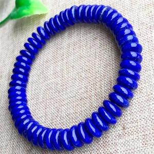 Image 2 - Natural Blue Lapis Lazuli Ellipse Stone Bracelet Crafts Beads 9/12mm Men Jewelry Gem Stone Bracelets for Women Gifts