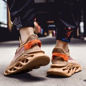 Image 5 - 男性のスニーカー夏メンズシューズ通気性フライング織発光靴男性靴カジュアル屋外zapatillas hombre